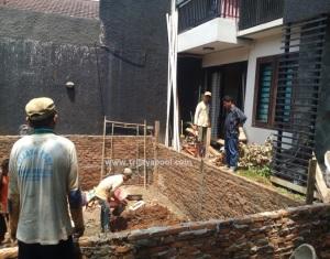 Pembuatan Kolam Renang Villa Hijau
